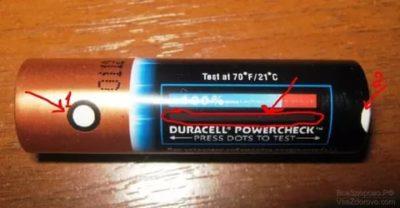 Как узнать есть ли заряд в батарейке
