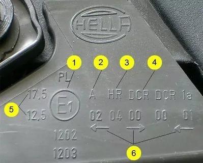 Какая должна быть маркировка на фарах для ксенона