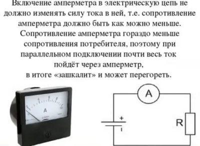 Как подключить амперметр постоянного тока к переменному