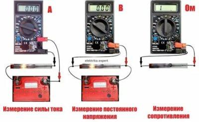Как измерить постоянное напряжение тестером