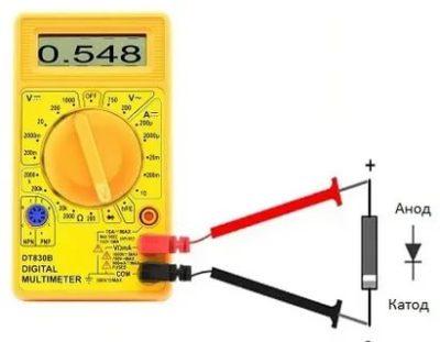 Как проверить выпрямительный диод мультиметром