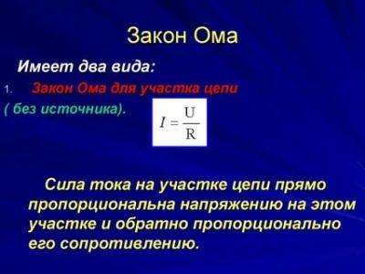 Как легко понять закон Ома