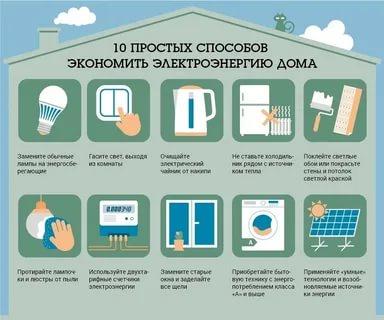 Какие способы экономии энергии вам известны