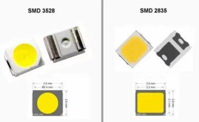 Чем отличаются светодиоды 2835 от 3528