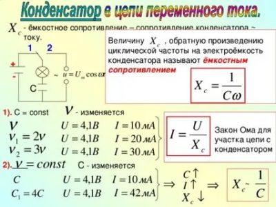 Чему равно сопротивление конденсатора в цепи переменного тока