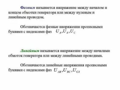 Какие напряжения и токи называются линейными Фазными
