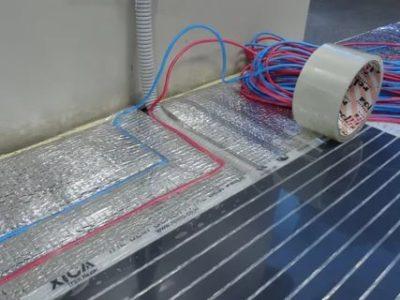 Как установить инфракрасный теплый пол