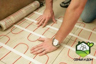 Как правильно положить электрический теплый пол