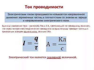 Что называется электрическим током проводимости