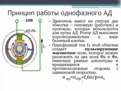 Как работает однофазный асинхронный двигатель