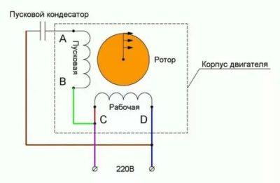 Как подключить электродвигатель с пусковым конденсатором