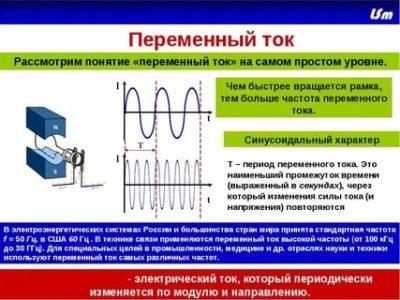 Почему переменный ток так называется