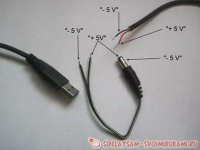 Какого цвета провод плюс и минус на зарядном устройстве