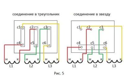 Как соединить обмотки трехфазного двигателя