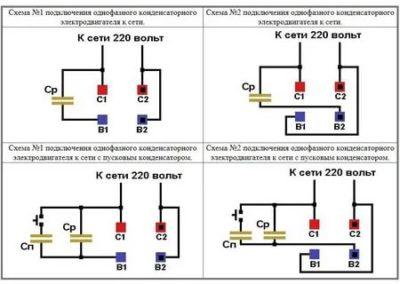 Как подключить пусковой и рабочий конденсатор к электродвигателю
