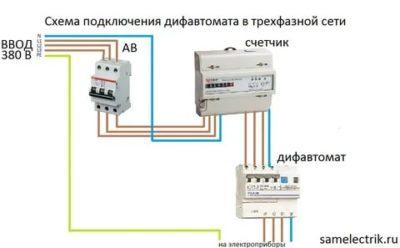 Как работает трехфазный дифавтомат