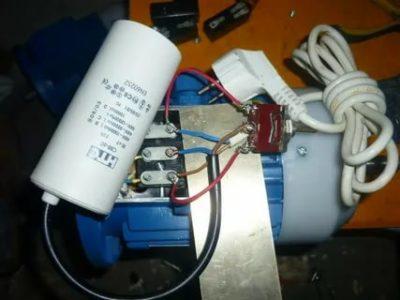 Как подсоединить конденсатор к мотору