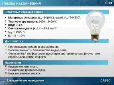 Какая температура у лампы накаливания