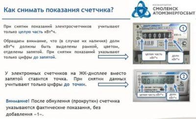 Как можно передать показания электросчетчика