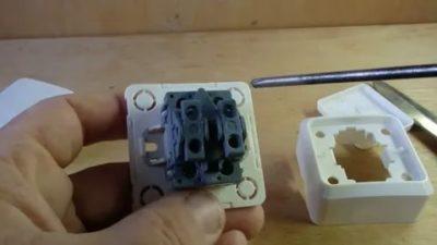 Как разобрать накладной выключатель света