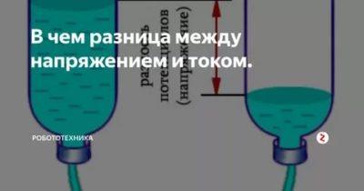 В чем разница между напряжением и током