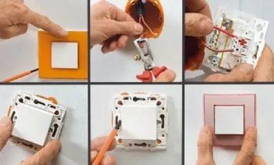 Как перевернуть выключатель