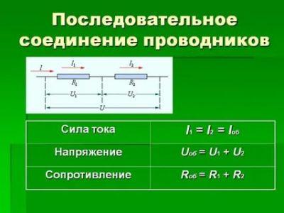 Что такое последовательное соединение проводников