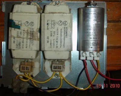 Для чего нужен конденсатор в люминесцентных лампах