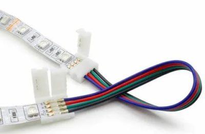Как подключить светодиодную ленту с помощью коннектора