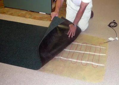 Можно ли стелить ковер на инфракрасный теплый пол