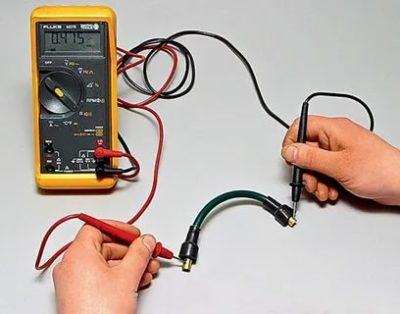 Как проверить сопротивление кабеля мультиметром