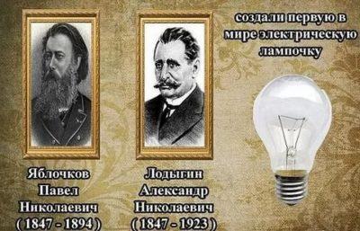 Кто первый изобрел электрическую лампу