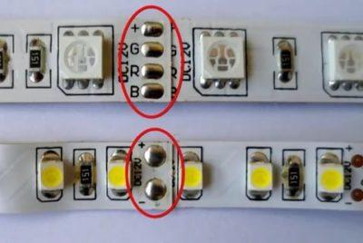 Как правильно разрезать светодиодную ленту