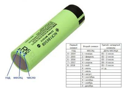 Как узнать емкость аккумулятора 18650 по маркировке