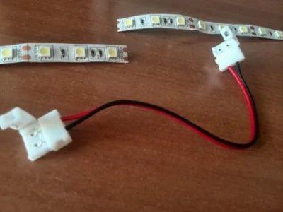 Как соединить светодиодную ленту без паяльника