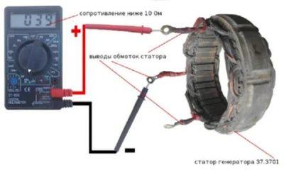 Как проверить обмотки статора генератора