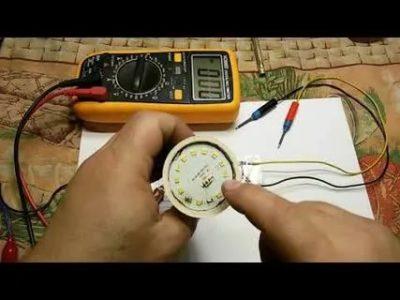 Как проверить светодиодные лампы мультиметром