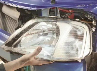 Как снять фару на рено логан