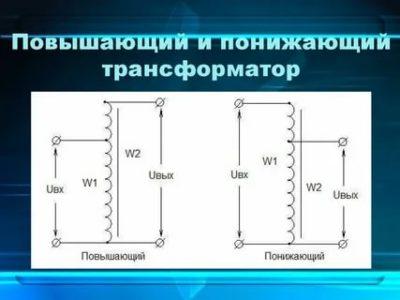 Что такое повышающий и понижающий трансформатор