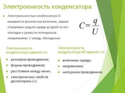 Что называют Электроемкостью конденсатора