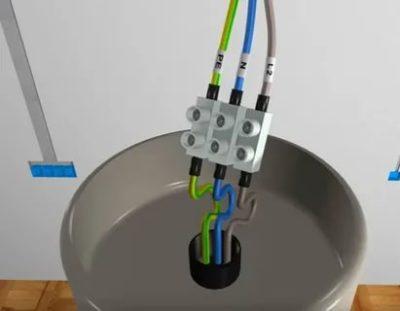 Как подключить лампу с тремя проводами