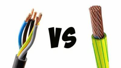 В чем отличие между кабелем и проводом
