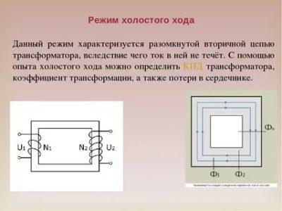 Как работает трансформатор на холостом ходу