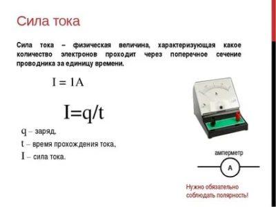 Что такое сила тока 8 класс