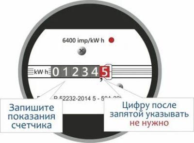 Какие цифры показания счетчика электроэнергии