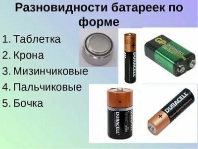 Как правильно называются пальчиковые батарейки